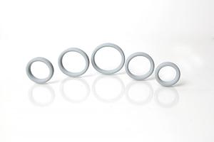 Boneyard Silicone Ring 5 Pcs Kit Grey