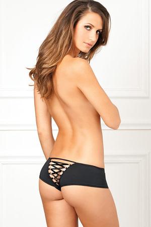Crotchless Lace Up Back Panty