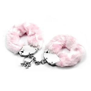 Fetish Pleasure Fluffy Hand Cuffs Pink