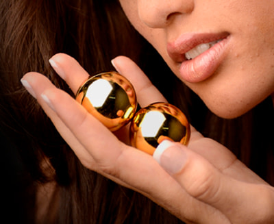 Sirs Golden Geisha Balls 1.3 inch