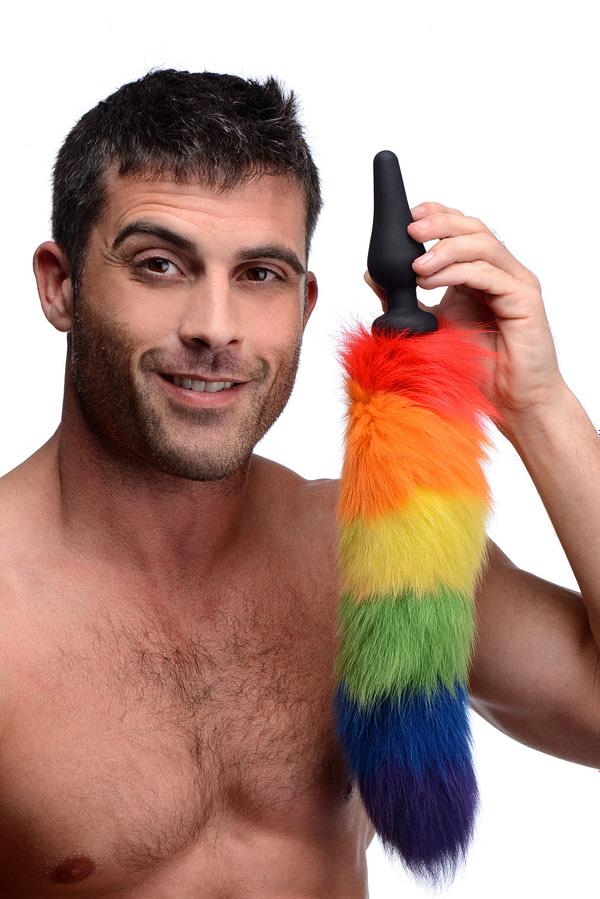 Rainbow Tail Silicone Butt Plug