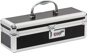 Lockable Medium Vibrator Case Black