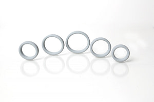 Boneyard Silicone Ring 5 Pcs Kit Grey