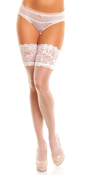Glamory Plus Comfort 20 Hold Ups White