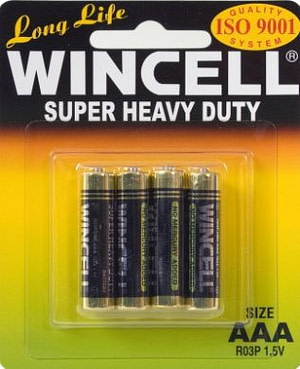 Wincell Super Heavy Duty AAA Carded 4Pk Battery