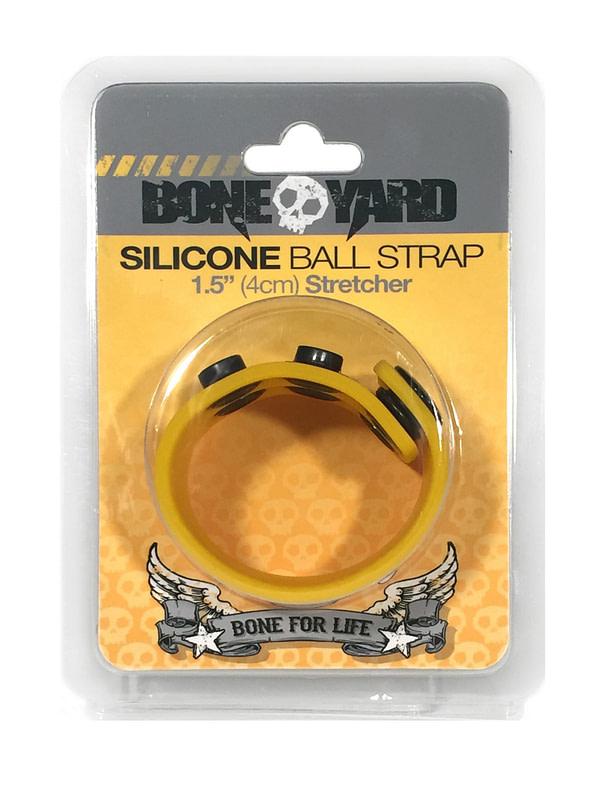 Boneyard 1.5inch Silicone Ball Strap - 3 Snap - Yellow