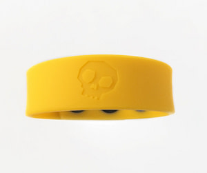 Boneyard Silicone Cock Strap - 3 Snap Ring - Yellow