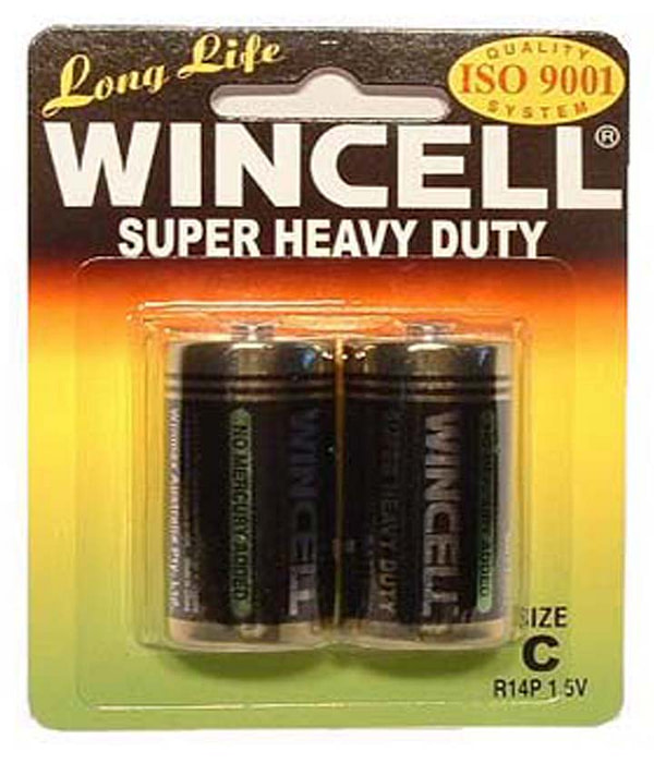Wincell Super Heavy Duty C Size Carded 2Pk Battery