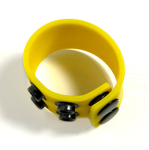 Boneyard 1.5inch Silicone Ball Strap - 3 Snap - Yellow