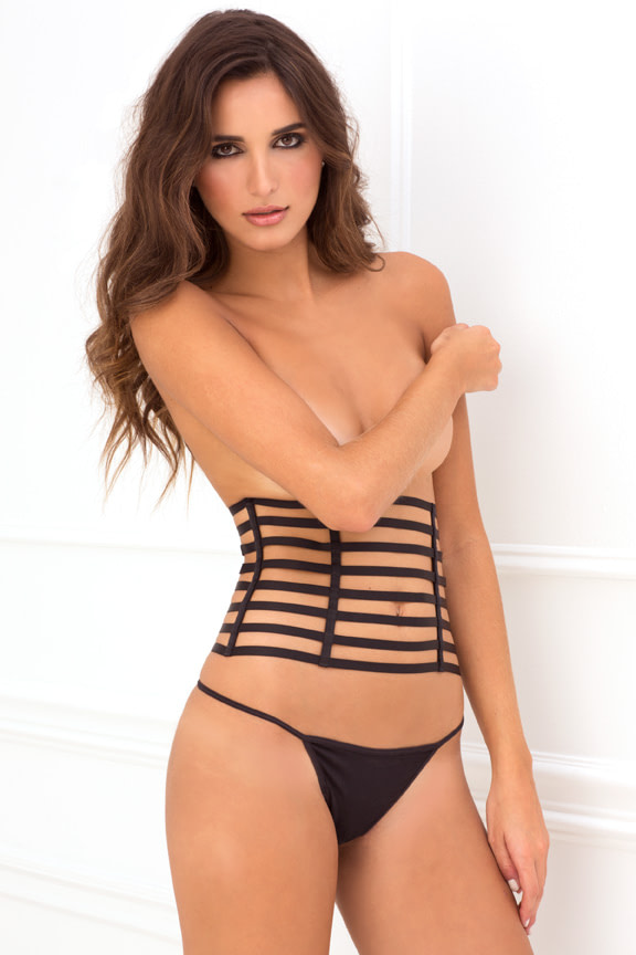 2 Piece Cage Waspie and G Set